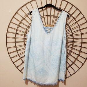 Vintage America Blue Sky Wash Tunic